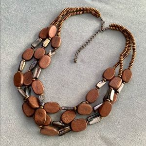 ❤️5 for $15 Vintage Wood and Shell Multi Strand Beaded Necklace